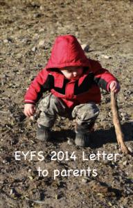 EYFS letter cover